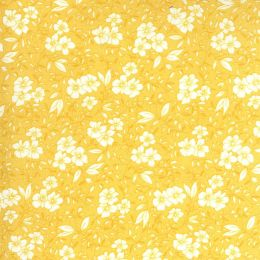 Moda 30s Playtime Fabric | Small Floral Buttercup