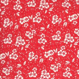 Moda 30s Playtime Fabric   Small Floral Scarlet