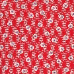 Moda 30s Playtime Fabric | Daisy Scarlet