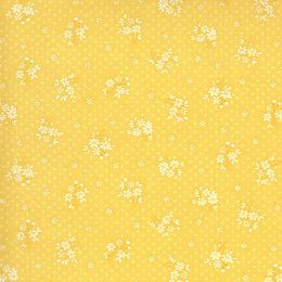 Moda 30s Playtime Fabric | Floral Sprig Buttercup