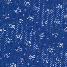 Moda 30s Playtime Fabric | Floral Sprig Bluebell