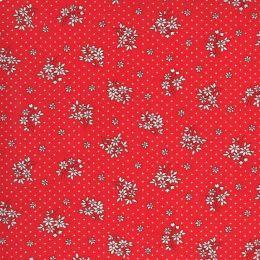 Moda 30s Playtime Fabric | Floral Sprig Scarlet