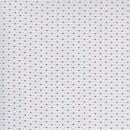 Moda 30s Playtime Fabric | Hearts Eggshell