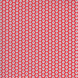 Moda 30s Playtime Fabric   Hearts Scarlet