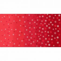 Scandi Christmas Makower Fabric   Ombre Snowflake Red
