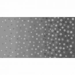 Scandi Christmas Makower Fabric | Ombre Snowflake Grey