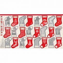 Scandi Christmas Makower Fabric | Mini Stocking Advent