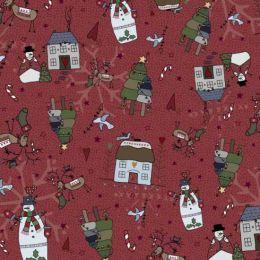 Peace & Joy Christmas By Lynette Anderson   Snowman Berry