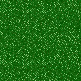 Santa Express Makower Fabric | Snowball Green