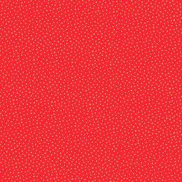 Santa Express Makower Fabric   Snowball Red
