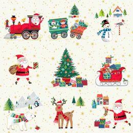 Santa Express Makower Fabric | Placement