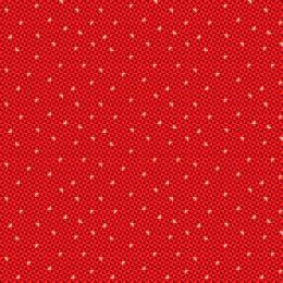Santa Express Makower Fabric   Geo Red