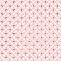 Farm Girls Unite Fabric | Strawberries Pink
