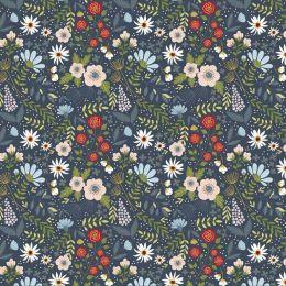 Farm Girls Unite Fabric | Wild Flowers Navy