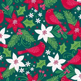 Holiday Wonder Fabric   Cardinal Green