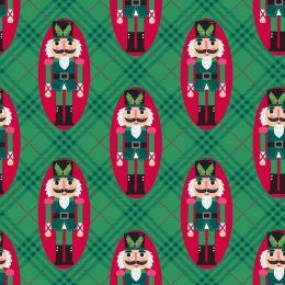 Holiday Wonder Fabric   Nutcracker Green