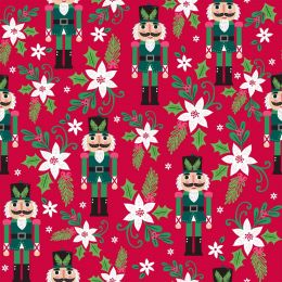 Holiday Wonder Fabric   Poinsetta Red
