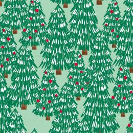 Believe Christmas Fabric   Chirstmas Trees