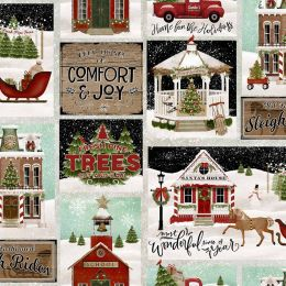 Home For The Holidays Fabric   Patch