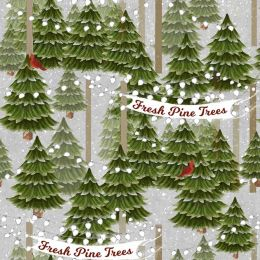 Home For The Holidays Fabric   Trees