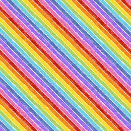The Very Hungry Caterpillar Fabric | Rainbow White