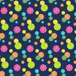 The Very Hungry Caterpillar Fabric   Garden Parasol Navy