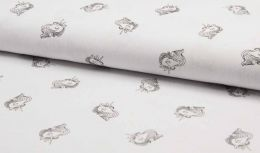 Stitch It' Textured Cotton Fabric | Unicorn White