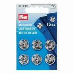 15mm Silver Metal, Snap Fasteners | Prym