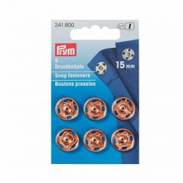 15mm Rose Gold Metal, Snap Fasteners | Prym