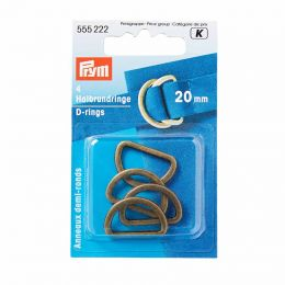 D Rings 20mm | Antique Brass | Prym