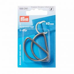 D Rings 40mm | Antique Silver | Prym