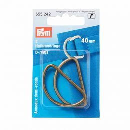 D Rings 40mm | Antique Brass | Prym