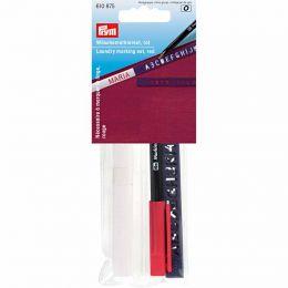Laundry Marking Set, Standard 3m Tape, Stencil & Pen - Red   Prym