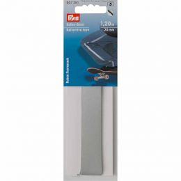 Reflective Tape Silver , Self Adhesive, 20mm x 1.2m | Prym