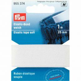 Elastic Tape Soft | 25mm White - 1m | Prym