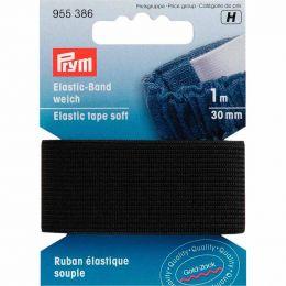 Elastic Tape Soft   30mm Black - 1m   Prym