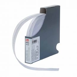 Buttonhole Elastic, 18mm x 10m - White   Prym