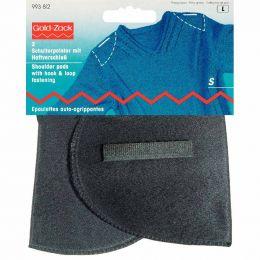 Set-In Shoulder Pads | Hook & Loop Fasten | Any Clothing | S, Black | Prym