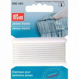 Jersey Elastic | 30mm x 1m - White | Prym