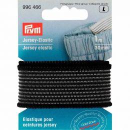 Jersey Elastic   30mm x 1m - Black   Prym