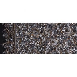 Effervescence Fabric | Full Width Border Multi Dot Stone