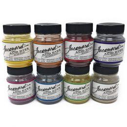 Jacquard Acid Dye Set | 8 Shade Set, 14g Tubs - Brights