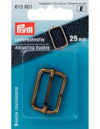 Adjusting Buckle 25mm | Antique Brass | Prym