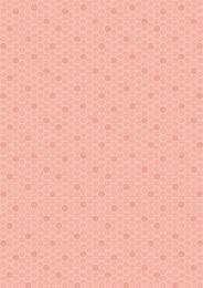 Bee Kind Fabric | Honeycomb Peach