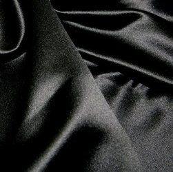 Premium Duchess Bridal Satin Lining | Black