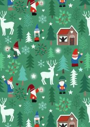 Hygge Glow Fabric   Tomte Forest Green