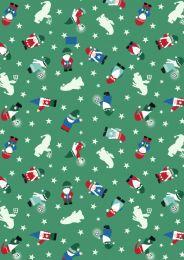 Hygge Glow Fabric | Mini Tomten Green