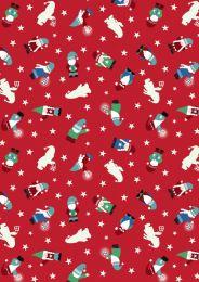 Hygge Glow Fabric   Mini Tomten Red