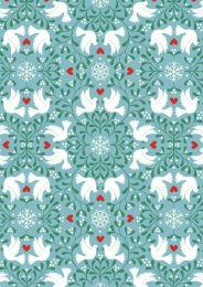Hygge Glow Fabric | Scandi Dove Icy Blue