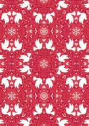 Hygge Glow Fabric | Scandi Dove Red
